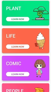 screenshot of Kawaii Easy Drawing : How to draw Step by Step. version 2.3.8