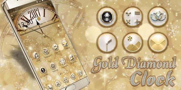 Download Gold Diamond Deluxe Clock 2018 1.1.13 APK