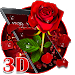 Download 3D valentine love rose theme 1.1.12 APK