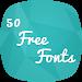 Download 50 Free Fonts 1.1 APK