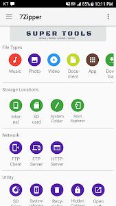 screenshot of 7Zipper - File Explorer version 3.10.19