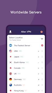 screenshot of Alien VPN - Fast Metro VPN & Proxy version 2.1.8.10