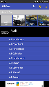 screenshot of All Cars: Information & Details version 6.9