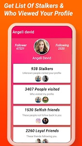 screenshot of Analyzer For Instagram - Insta followers, Stalkers version 1.7