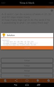 screenshot of Aptitude Test Preparation version 4.0.9