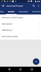 screenshot of Ares Kodi Project version 5.0.5