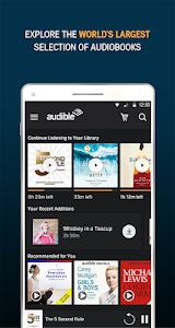 screenshot of Audiobooks from Audible version 2.31.0