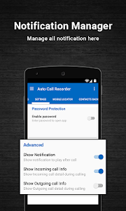 screenshot of Auto Call Recorder 2016 version 1.23