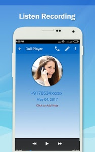 screenshot of Auto Call Recorder 2017 version 1.40