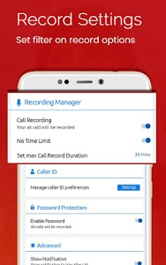 screenshot of Auto Call Recorder 2018 version 1.54