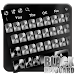 Download Black and white classic metal keyboard theme 10001001 APK