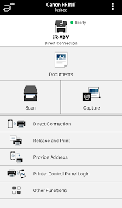 screenshot of Canon PRINT Business version 6.0.0