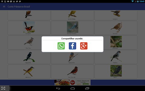 screenshot of Canto de Pássaros Brasileiros version Varies with device