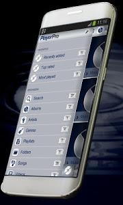 screenshot of Chrome PlayerPro Skin version 2.3