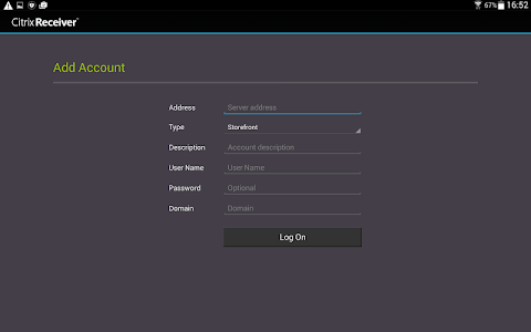 screenshot of Citrix Receiver version 3.11.1