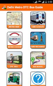 screenshot of Delhi Metro DTC Bus Guide version 1.1
