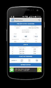 screenshot of IRCTC Mobile Ticket version 6.0