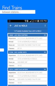 screenshot of IRCTC Mobile Ticket version 8.4