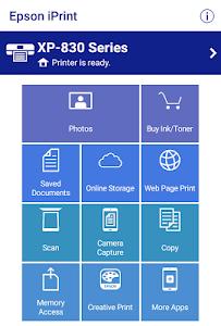 screenshot of Epson iPrint version 6.0.6