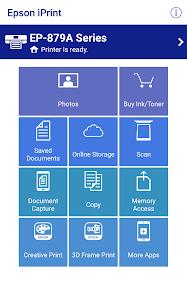 screenshot of Epson iPrint version 6.6.1