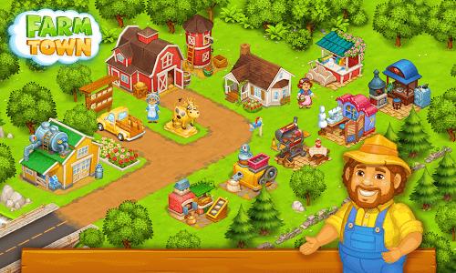 Download Farm Town: Happy farming Day & food farm game City 2.32 APK