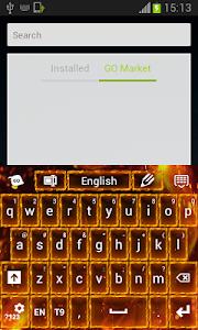 screenshot of Flame Keyboard version 2.56.75.30