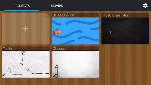 screenshot of FlipaClip - Cartoon animation version 1.4.5