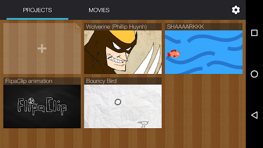 screenshot of FlipaClip - Cartoon animation version 1.5.1.0