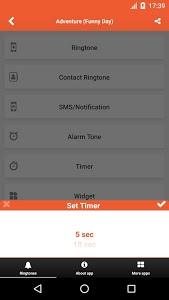 screenshot of Funny SMS Ringtones & Sounds version 5.0.8