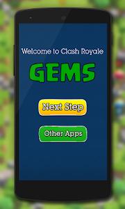 screenshot of Gems for Clash Royale Prank version 1.0