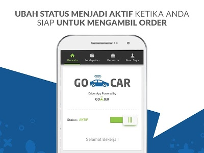 screenshot of GoCar Driver version 2.12.0