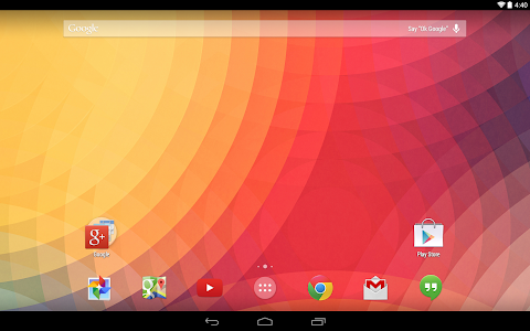 screenshot of Google Now Launcher version 1.1.0.1167994