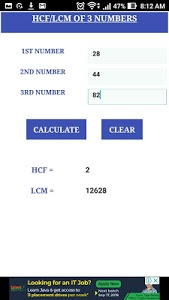 Download HCF LCM CALCULATOR 1.0 APK
