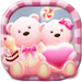 Download Cute Bear love honey with Pink hearts DIY Theme 3.9.8 APK