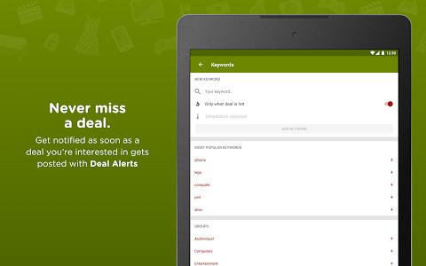 screenshot of HotUKDeals - Vouchers Codes, Deals, Freebies, Sale version 5.13.02