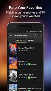 screenshot of IMDb Movies & TV version Varies with device