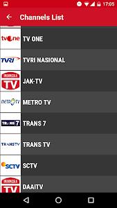 screenshot of TV Indonesia - Free TV Guide version 3.3