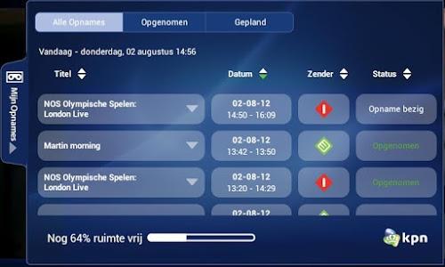 screenshot of KPN iTV Online version 4.4.0