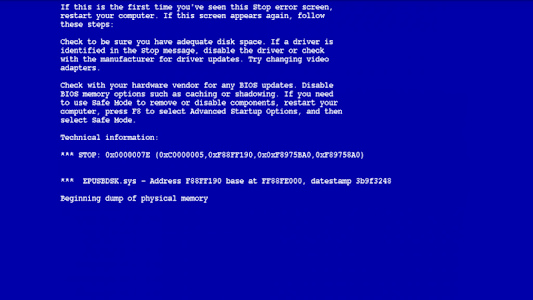 screenshot of Legend XP Error version 8.0