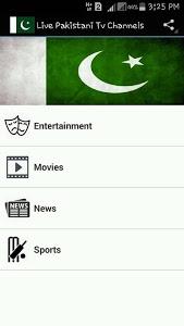 screenshot of Live Pakistani Tv Channels version 1.0