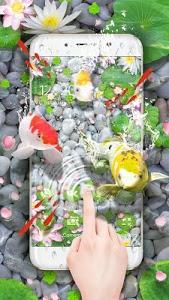 screenshot of Lively Koi Fish 3D Theme version 2.0.16