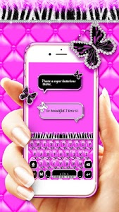 Download Luxury Butterfly Zebra Keyboard Theme 1.0 APK