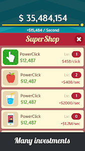 screenshot of Make Money Rain: Cash Clicker version 128