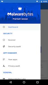 screenshot of Malwarebytes Security: Virus Cleaner, Anti-Malware version Varies with device