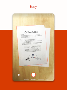 screenshot of Microsoft Office Lens - PDF Scanner version 16.0.11126.20106