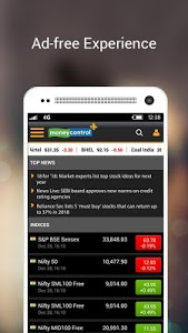 screenshot of Moneycontrol – Stocks, Sensex, Mutual Funds, IPO version Varies with device