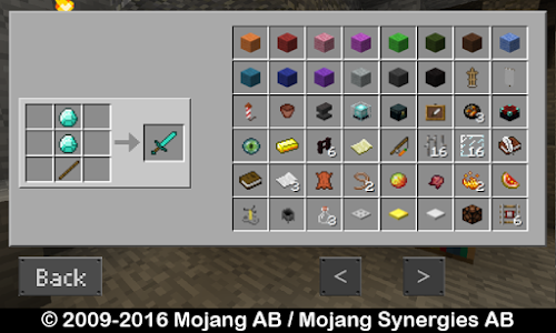 screenshot of Crafting for Minecraft version 1.2