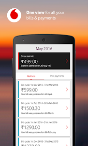 screenshot of MyVodafone (India) - Online Recharge & Pay Bills version 8.0.1.5