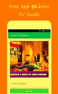 screenshot of New Mobdro Online TV Reference version 1.2