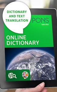 screenshot of PONS Online Dictionary version 2.7.2-google